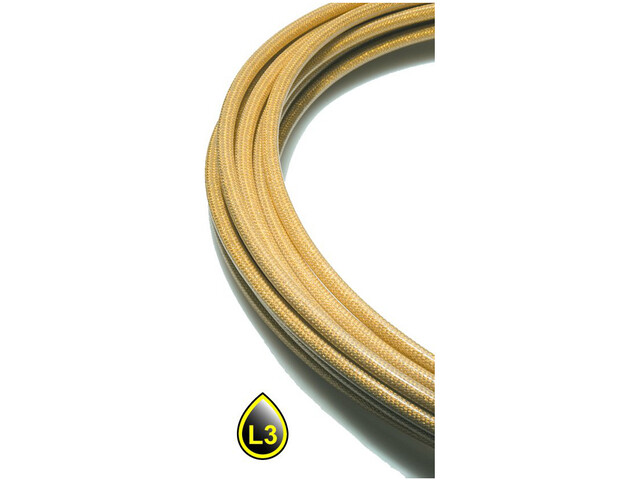 Jagwire LEX SL Shift Cable Housing incl. End Caps 10m 4,5mm, gold medal